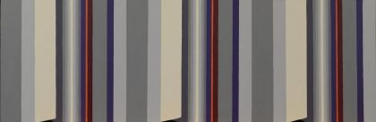 "3-D Stripe 12 "" x 36 ""  acrylic on board"