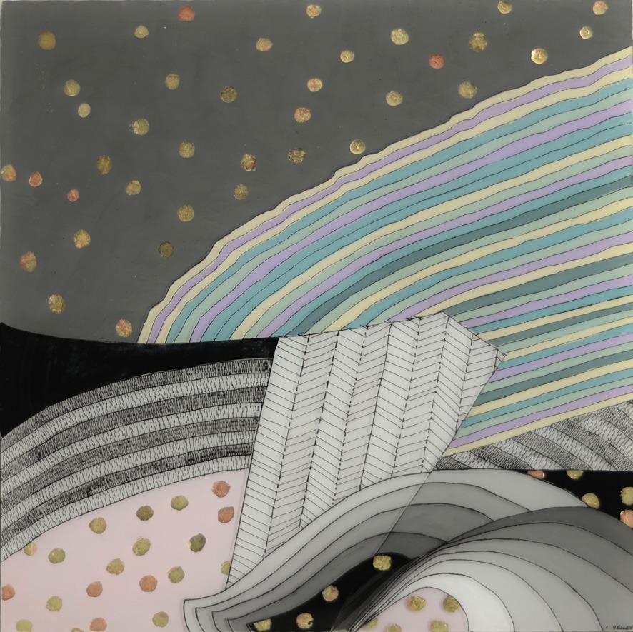 Slipstream painting on plexi